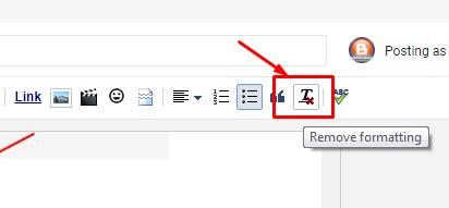 Remove formatting